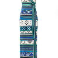 Diane von Furstenberg New Yahzi Maxi Wrap Dress