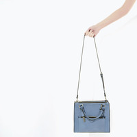 Mini city bag with zip details