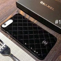 Chanel 2018 trendy men and women couple models iPhone6Plus mobile phone case cover F-OF-SJK #1