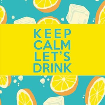 Keep Calm Let's drink: A revolutionary beach towel that's water resistant, lightweight, Thin, Compact and even more (Yellow)