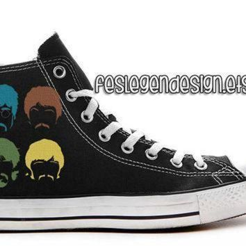 ICIKGQ8 the beatles custom converse painted shoes