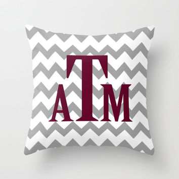 Texas A&M Aggies Pillow Cover Graduation Gift Throw Pillow Zipper Double Sided Custom Convert ANY Print TRM Design 16x16 18x18 20x20 26x26