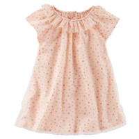 2-Piece Rose Gold Star Print Dress