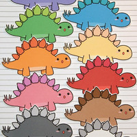 Chibi Stegosaurus Stickers and Magnets