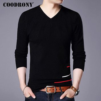 Sweater Men New Arrival Soft Warm Knitted Sweaters Cashmere Wool Pullover Men Flash Pattern V-Neck Pull