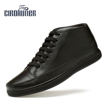 CIROHUNER Men Genuine Leather Shoes Fashion Men's Casual shoes Male Formal Leather Man's Boots Shoes Male Footwear