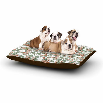 "Suzanne Carter ""Vintage Flowers"" Green Floral Dog Bed"