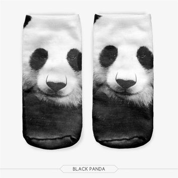 All Over Print Animal Shark Tiger Panda Socks Funny Crazy Cool Novelty Cute Fun Funky Colorful