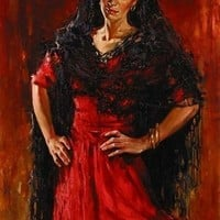 Andrew Atroshenko Gypsy Magic [Andrew Atroshenko_A3051] - $99.00 oil painting for sale|Wonderful artwork|Buy it at once.