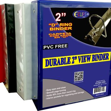 "Durable 2"" View Binder - Assorted Colors - CASE OF 12"