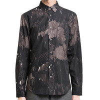 Acne Studios - Isherwood mark camo black marker