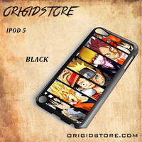 Naruto Son Goku Luffy Ichigo Vongola Natsu One Piece Bleach Fairy Tail Soul Eater Kid Snap on 2D Black and White Or 3D Suitable With Image For Ipod Touch 5 Case