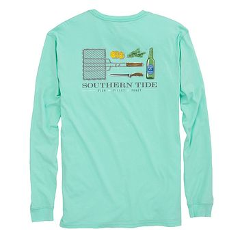 Fish, Fillet, Feast Long Sleeve T-Shirt in Offshore Green by Southern Tide