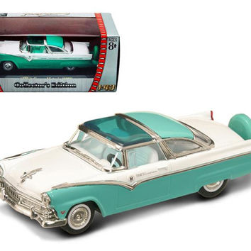 1955 Ford Crown Victoria Green 1-43 Diecast Car Model by Road Signature