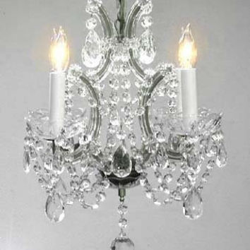 "Maria Theresa Crystal Chandelier Chandeliers H15"" X W15"" - A83-SILVER/1531/4"