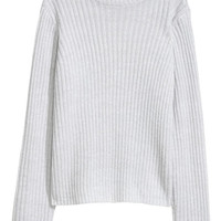 Ribbed jumper - Light grey - Ladies | H&M