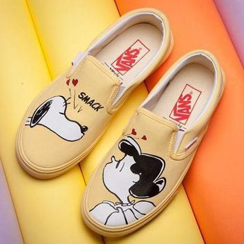 VANS X Peanuts Slip-On Snoopy Canvas Old Skool Flats Sneakers Sport Shoes Day-First™