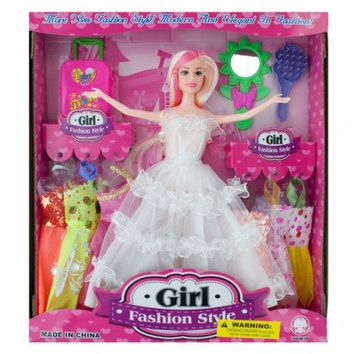 Bride Fashion Doll With Dresses & Accessories