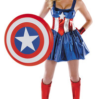 Sexy Captain America Costume, Sexy Superhero Costumes