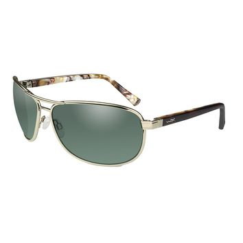 Wiley X Klein Sunglasses - Polarized Smoke Green Lens - Gold Frame [ACKLE06]