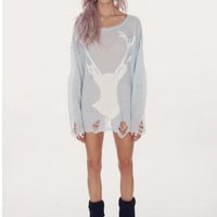 Wildfox Couture White Stag Sweater