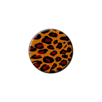 Leopard Animal Print Lapel Hat Pin Tie Tack Small Round