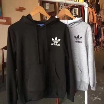 ADIDAS Hooded Fashion Print Cotton Top Sweater Hoodie