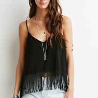 Fringed Split-Back Cami