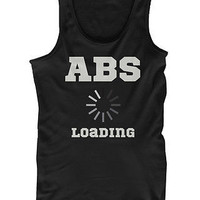 Men's Black Cotton Work Out Tank Top - Abs Loading