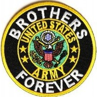 "Embroidered Iron On Patch - United States Army Brothers Forever 3"" Military Patch"