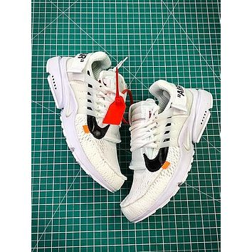 Off White X Nike Air Presto White Sport Running Shoes