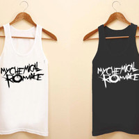 my chemical romance unisex tank top for size S-3XL, color available black and white