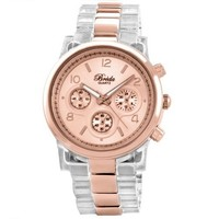 Breda Women's 2310-ClearRoseGold Dakota Rose-Gold And Clear Two-Tone Watch