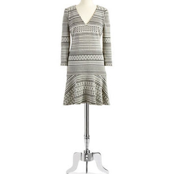 Plenty By Tracy Reese Patterned Drop Waist Dress