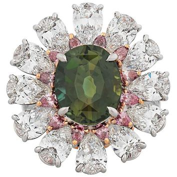 5.52 Carat Color-Changing Alexandrite Ring