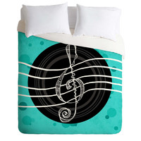 Lisa Argyropoulos Solo Aquatic Blues Duvet Cover