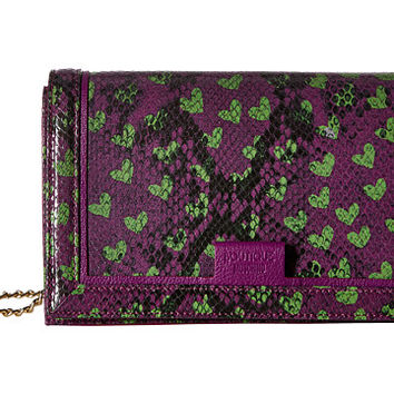 Boutique Moschino Python and Hearts Print Crossbody