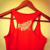 Vintage Moonshiners Whiskey Moonshine Triblend Racerback Tank Top Valentine's Day Gift For Her