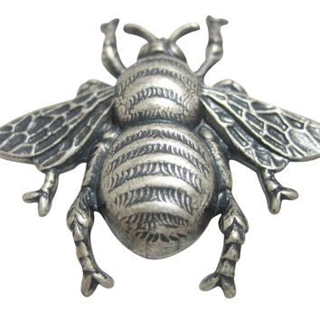 Silver Toned Large Bee Bug Insect Pendant Magnet