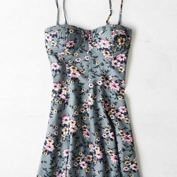 AEO Women's Printed Corset Dress