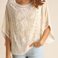 Embroidered Lace Floral Top
