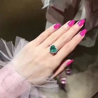 Fashion Tiffany logo Womens Ring Noble High 2018 New Serpenti ring AAAA diamond drill hollowed out Emerald ring of noble heart