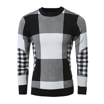 2017 New Autumn Fashion Brand Casual Sweater O-Neck Striped Slim Fit Knitting Mens Sweaters And Pullovers Men Pullover Men DSCXC