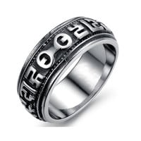 Ancient Words Stainless Steel Fashion Men Ring