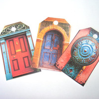 Rustic Door Tags Set of 12 Beautiful Colorful Wooden Doors