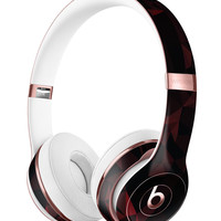 Dark Red Geometric V2 Full-Body Skin Kit for the Beats by Dre Solo 3 Wireless Headphones