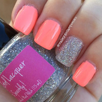 """It's Sparkly! MINI SIZE - """"5 Free"""" Luxury Handmade Nail Polish by Valley Girl Lacquer"""