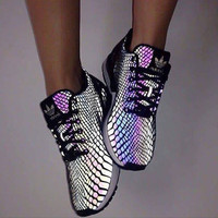 """Adidas"" Zx Flux Reflective Chameleon Sneakers Sport Shoes"