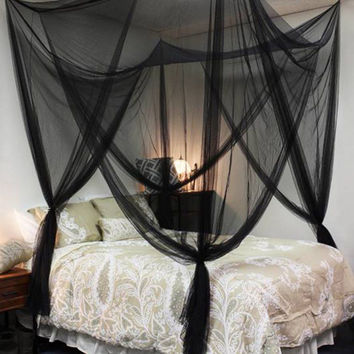 New Princess 4 Corners Post Bed Tent Canopy Mosquito Net   Twin Full/Queen King Netting