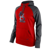 St. Louis Cardinals Nike Women's All Time Performance 1.5 Pullover Hoodie – Red
